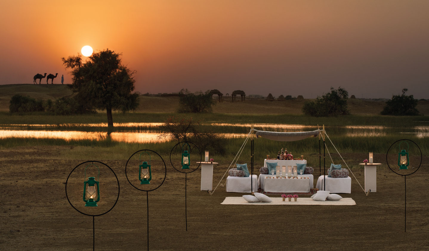 Sun downers in the desert with Suryagarh