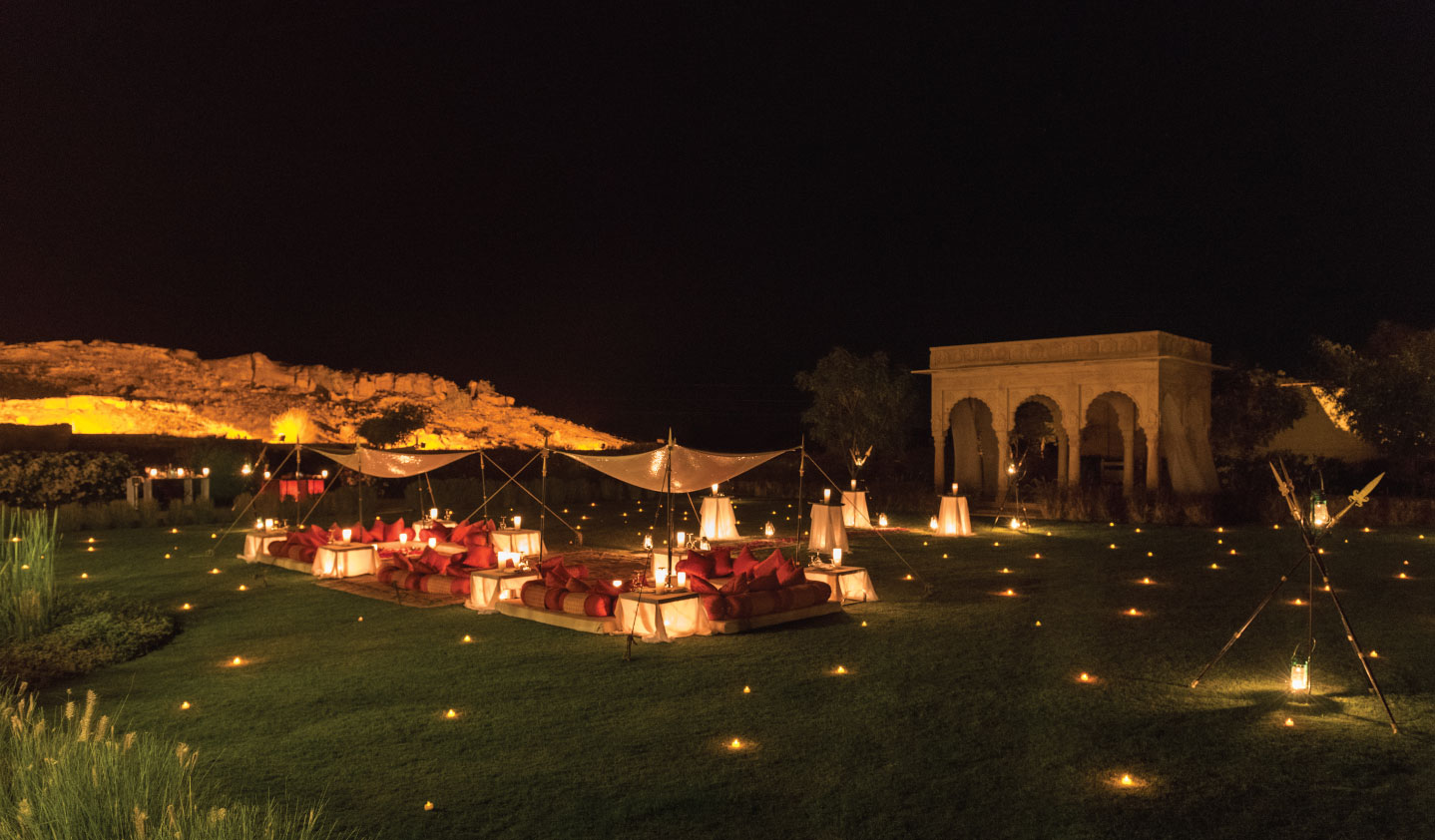 Thar Dinner at Celebration Gardens, Suryagarh, Jaisalmer