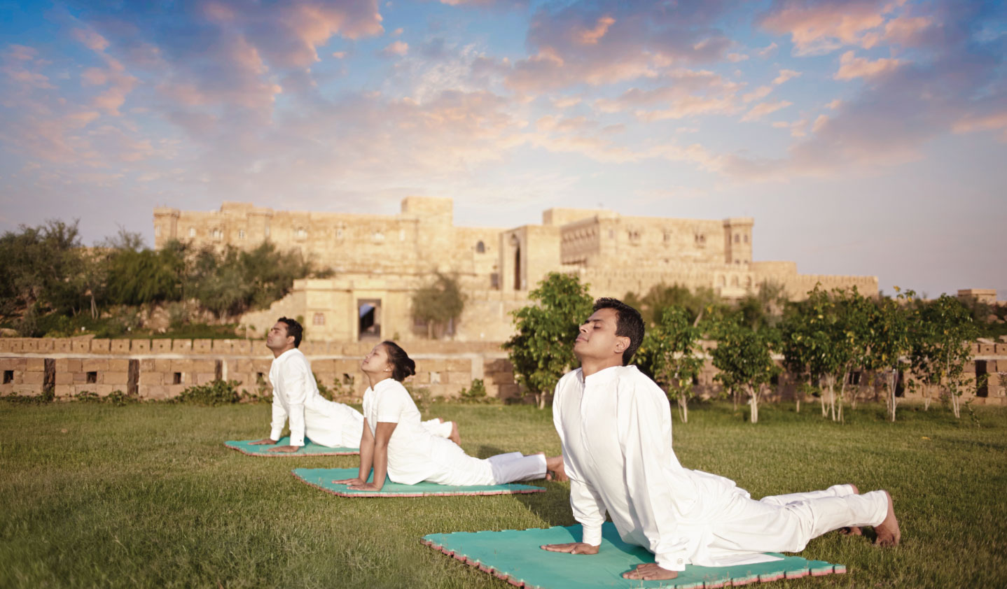 Yoga at Suryagarh, Luxury Hotel in Jaisalmer, Rajasthan